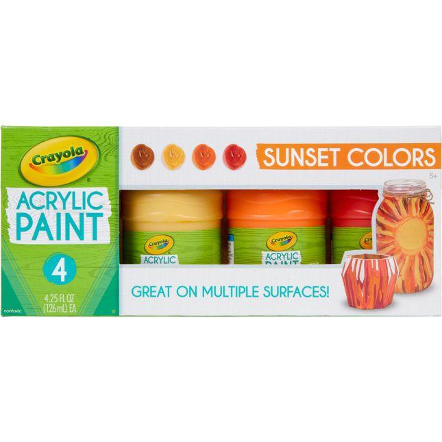 Crayola® Acrylic Paint – Sunset Colors – Set Of 4