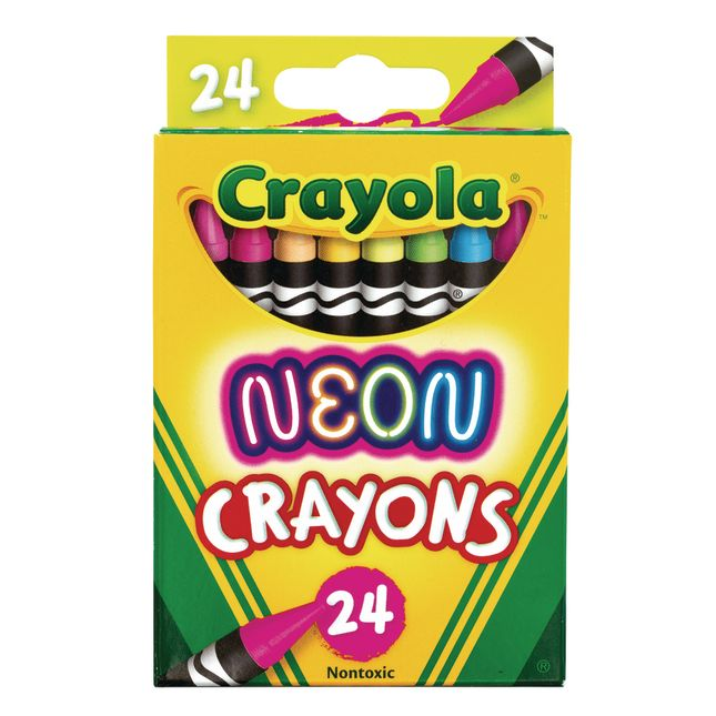 Crayola® Neon Crayons – Set Of 24