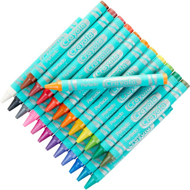 Crayola Pearl Crayons  Set Of 24
