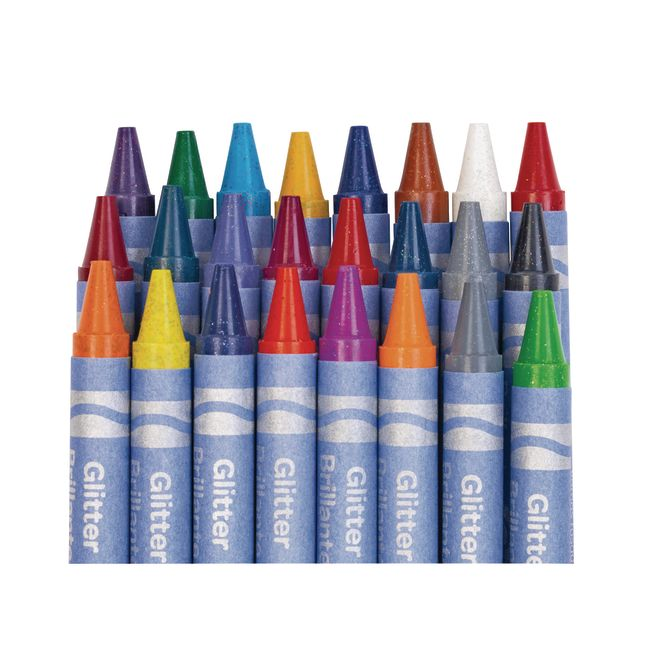 Crayola Glitter Crayons  Set Of 24_1