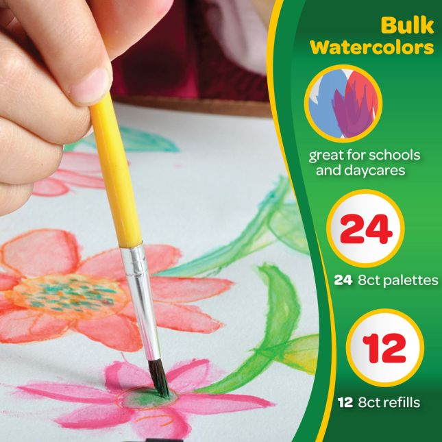Crayola Educational Watercolors Classpack 8 Assorted Colors