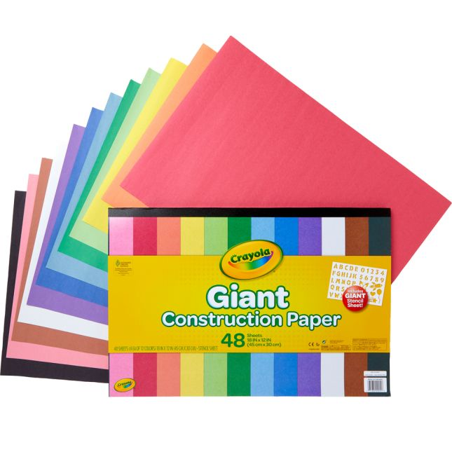 Crayola Giant Construction Paper  48 Sheets - 48 sheets
