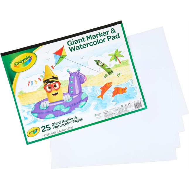 Crayola Giant Marker And Watercolor Pad  25 Pages