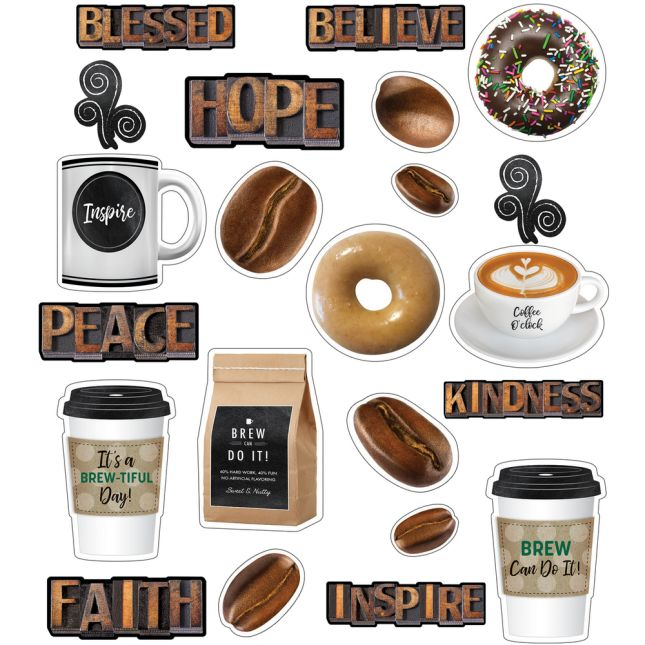 Industrial Café Morning Motivators Mini Bulletin Board Set_0