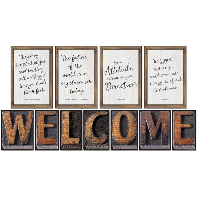 Industrial Café Industrial Chic Welcome Bulletin Board Set