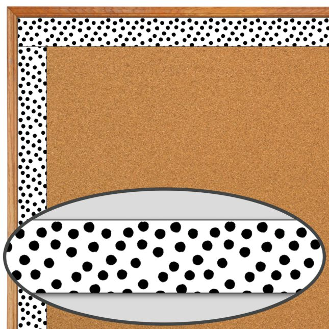 Industrial Café Painted Dots Straight Border