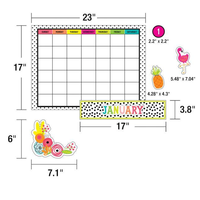 Simply Stylish Tropical Pineapple Calendar Bulletin Board Set_1
