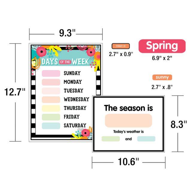 Simply Stylish Tropical Pineapple Calendar Bulletin Board Set_2