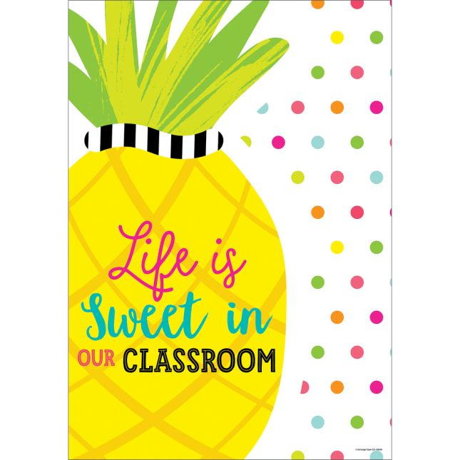 Simply Stylish Tropical Life Is Sweet Poster