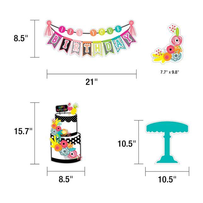 Simply Stylish Tropical Pineapple Birthday Bulletin Board Set_2