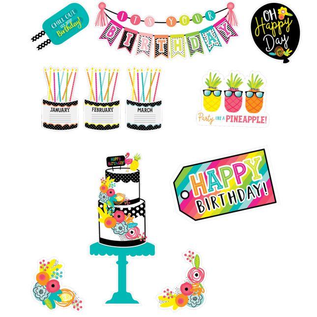 Simply Stylish Tropical Pineapple Birthday Bulletin Board Set_3