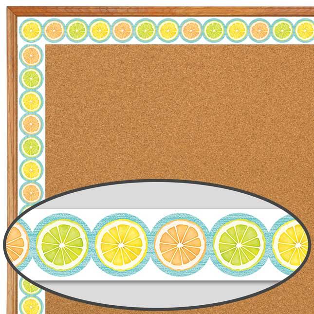 Lemon Zest Citrus Slices Diecut Border Trim