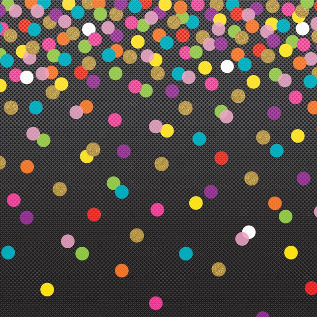 Better Than Paper Bulletin Board Roll  Colorful Confetti On Black
