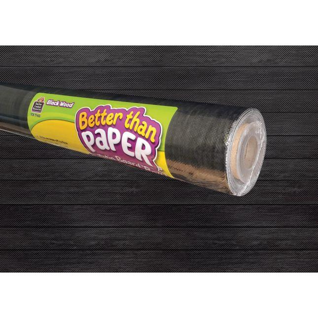 Better Than Paper Bulletin Board Roll  Black Wood