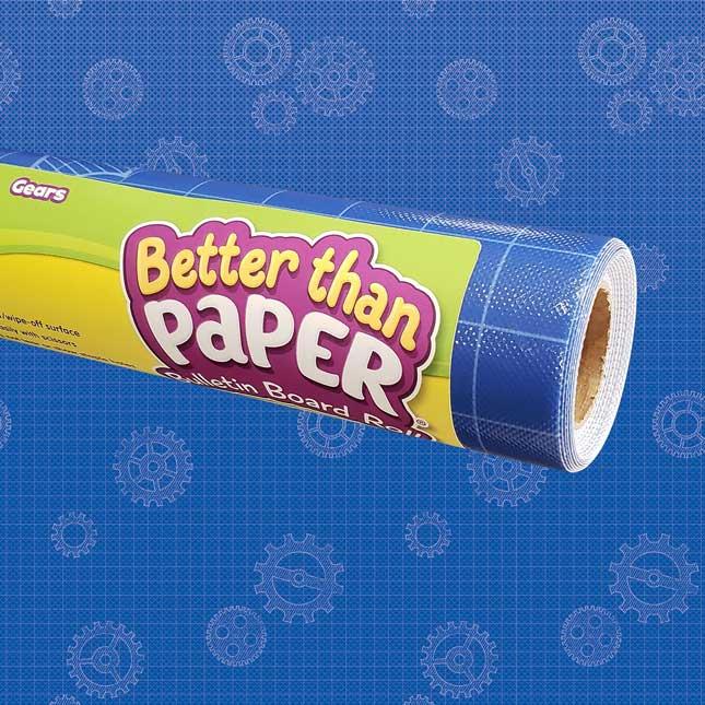 Better Than Paper Bulletin Board Roll  Gears - 1 roll