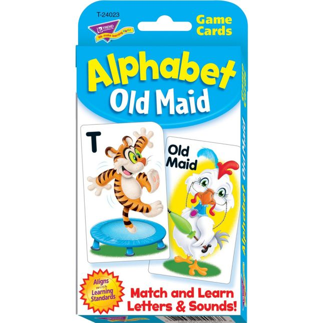 Alphabet Old Maid Challenge Cards - 56 cards