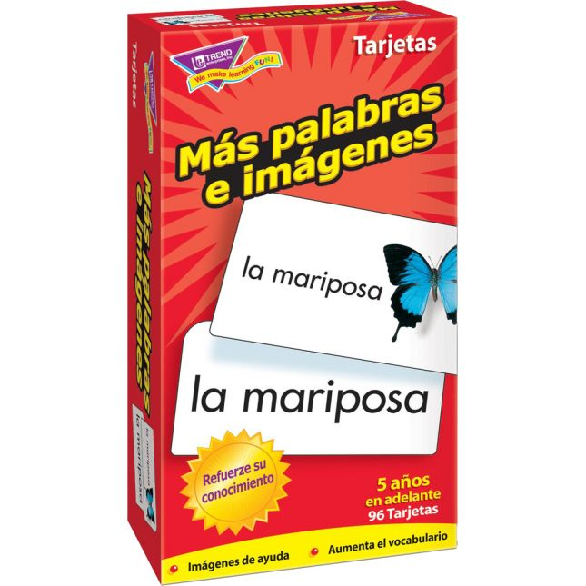 Ms palabras e imagnes (Spanish) Skill Drill Flash Cards - 96 cards