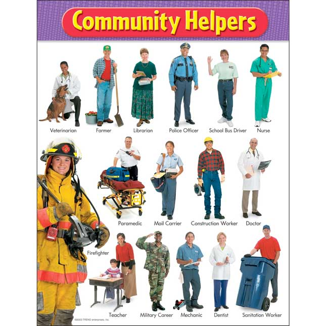 Community Helpers Learning Chart