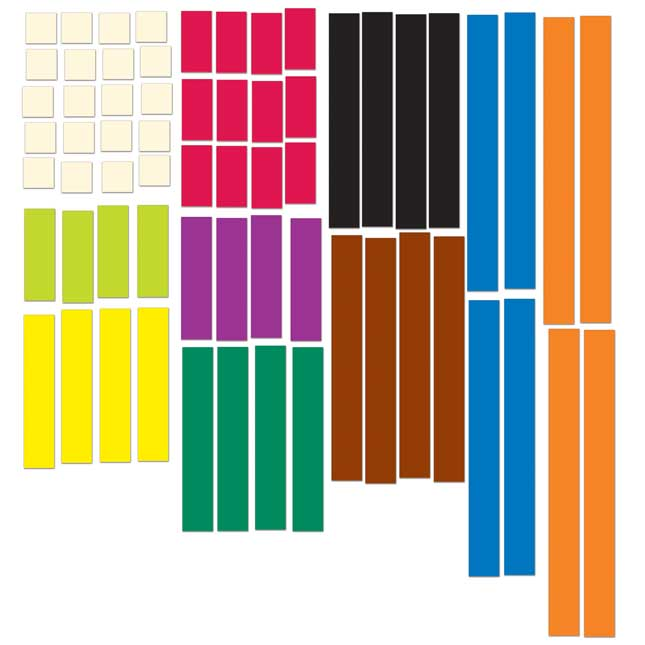 Magnetic Cuisenaire® Rods – Set Of 64