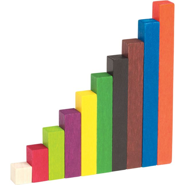 Wooden Cuisenaire Rods Small Group Set