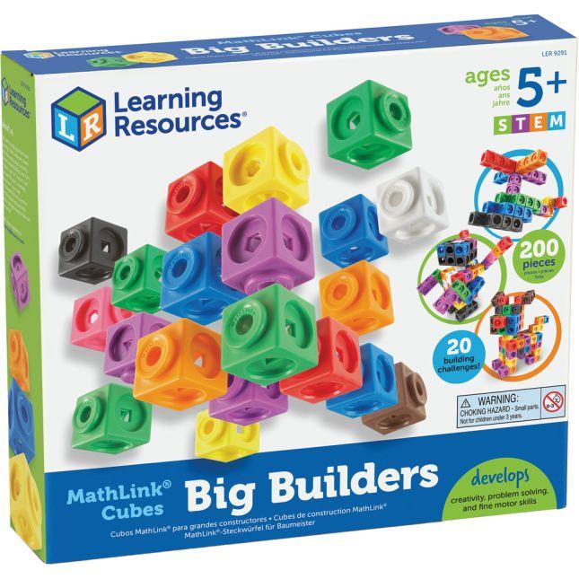 MathLink Cubes Big Builders - 200 cubes