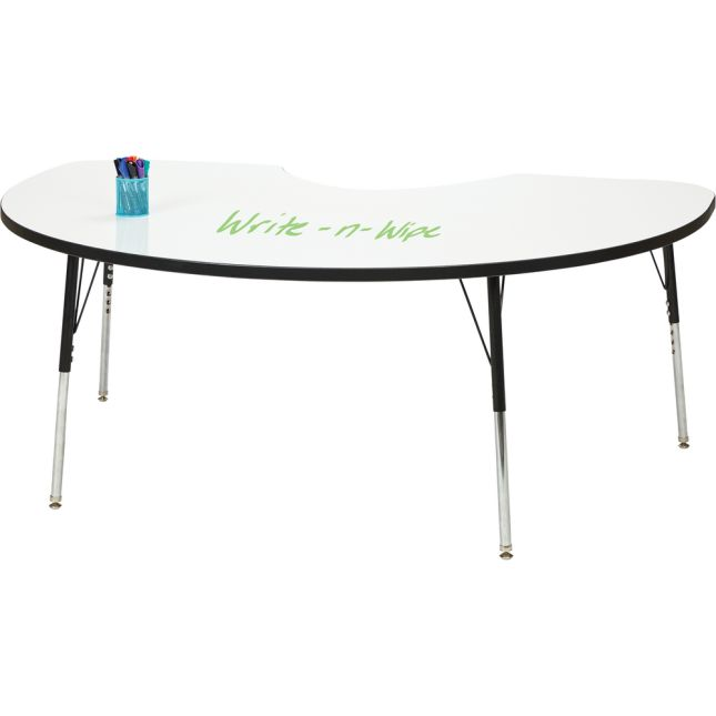 """Berries Kidney Dry Erase Table  72"""" By 48"""" - 1 table"""