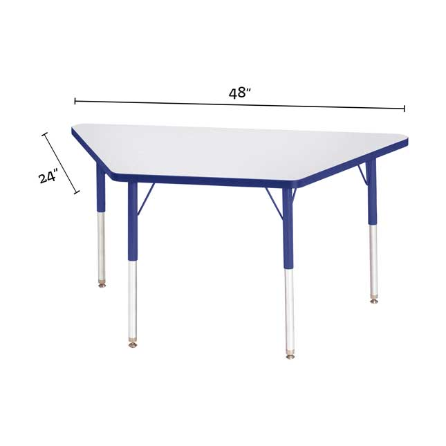 """Berries Trapezoid Activity Table  24"""" By 48"""" - 1 table"""