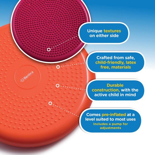 Standard Balance Disc Wiggle Cushion 33 Cm 13  Diameter   Orange
