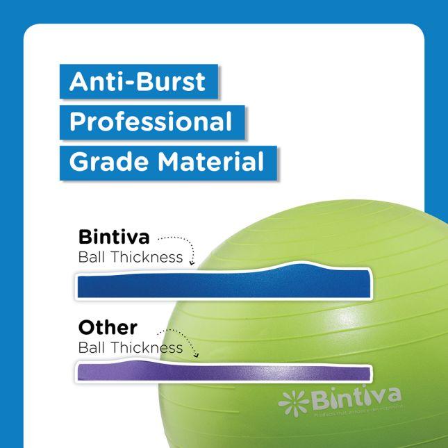 Bintiva Anti-Burst Fitness Exercise Stability Yoga Ball  65 CM - 1 yoga ball
