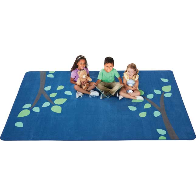 KIDSoft Branching Out Rug Blue 4  X 6