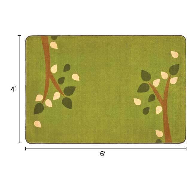 KIDSoft Branching Out Rug  Green  4' X 6' - 1 rug