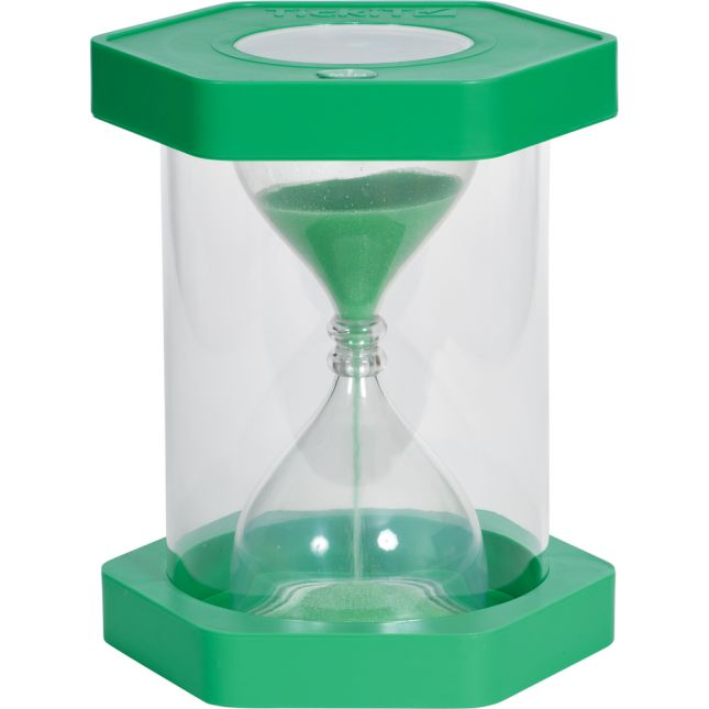 Giant Clearview Sand Timer, 1 Minute, Green - 1 timer
