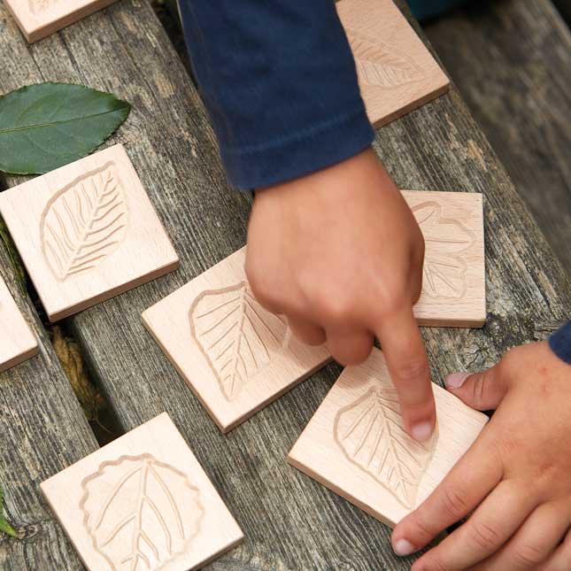 Match Me Sensory Leaf Tiles