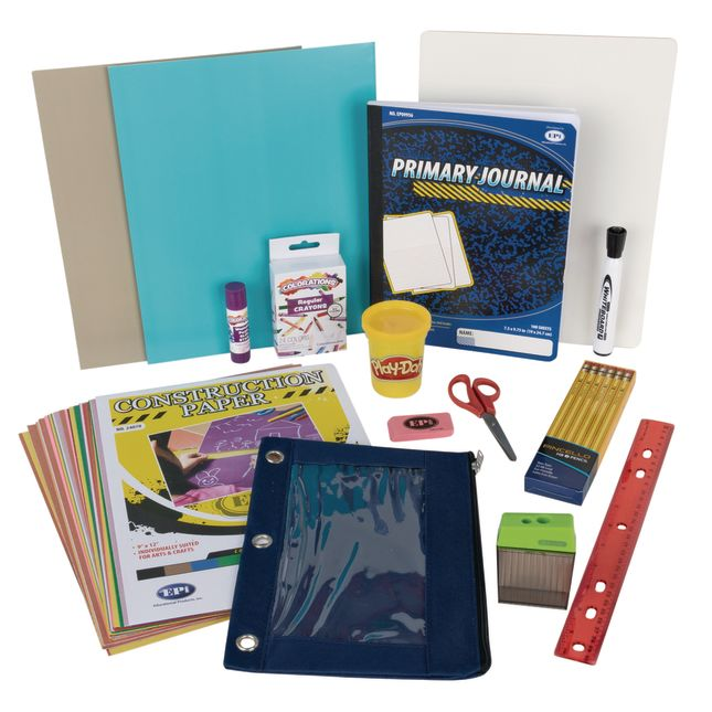 Individual Student Supplies Kit with Whiteboard - Elementary - 1 multi-item kit
