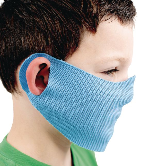 Elastic Face Covering with Cloth Ear Strap 10-Pack, Child-Sized