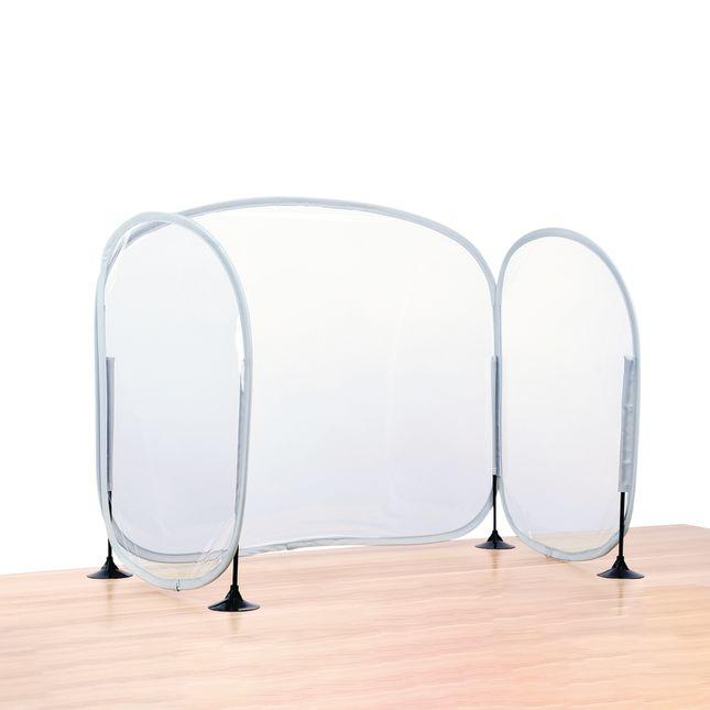 Excellerations Fold-Up Portable Desktop Barrier - 1 desk barrier