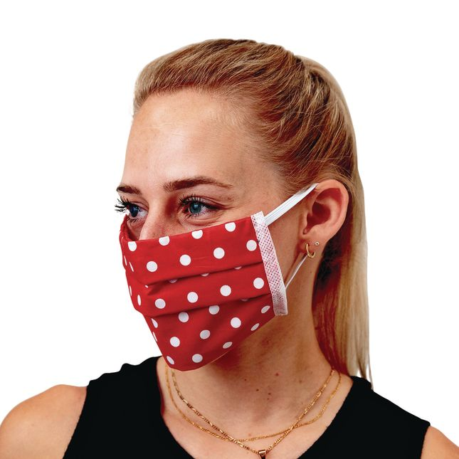 Adult Cotton Pleated Face Covering Elastic Ear Loop 20 Pack
