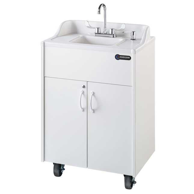 Ozark River Portable Hot Water Sink  Premier Brite White - 1 portable sink
