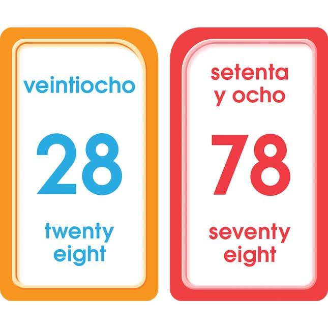 Bilingual Math Flash Cards Numbers 1 100 and Colors, Shapes, and More Tarjetas Ilustrativas Numeros 1 100 y Colores, Figuras, y Mas