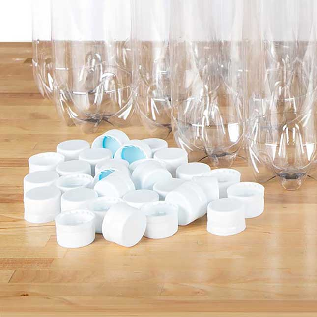 1-Liter Bottles with Caps - Set Of 30