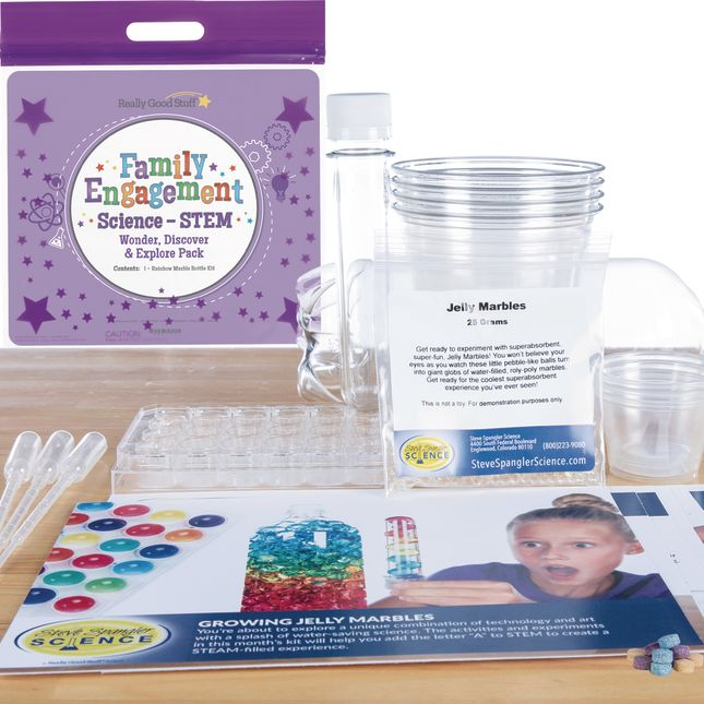 Family Engagement Science/STEM - Wonder, Discover and Explore Pack: Rainbow Marble Bottle