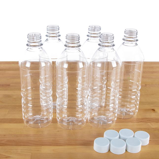 16 Oz. Bottles And Caps – Set Of 6