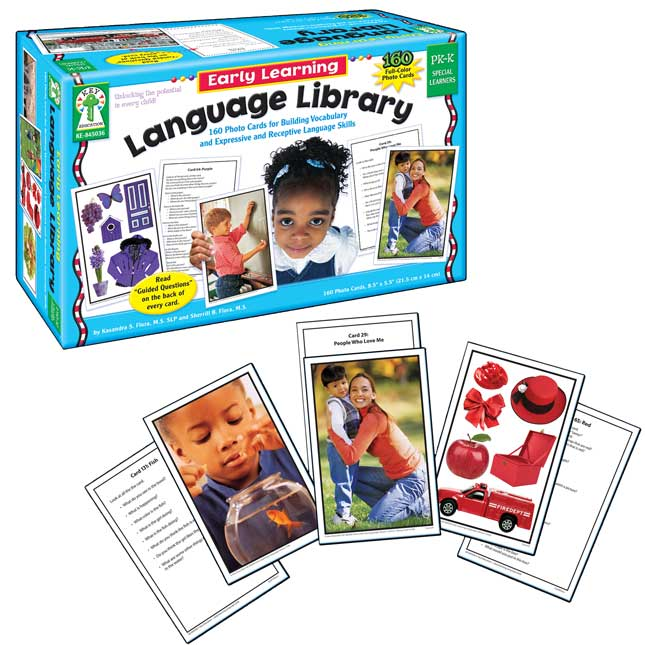 Early Learning Language Library Learning Cards Set