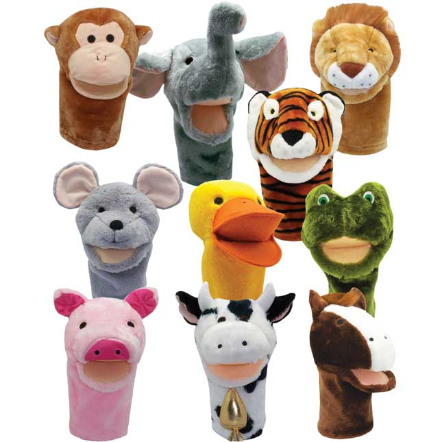 Big Mouth Animal Puppet Set