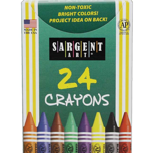 Sargent Art 24-ct. Crayons - 6 Boxes