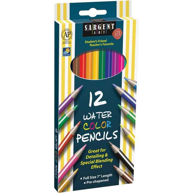 Sargent Art 12- Ct. Water Color Pencils -6 Boxes