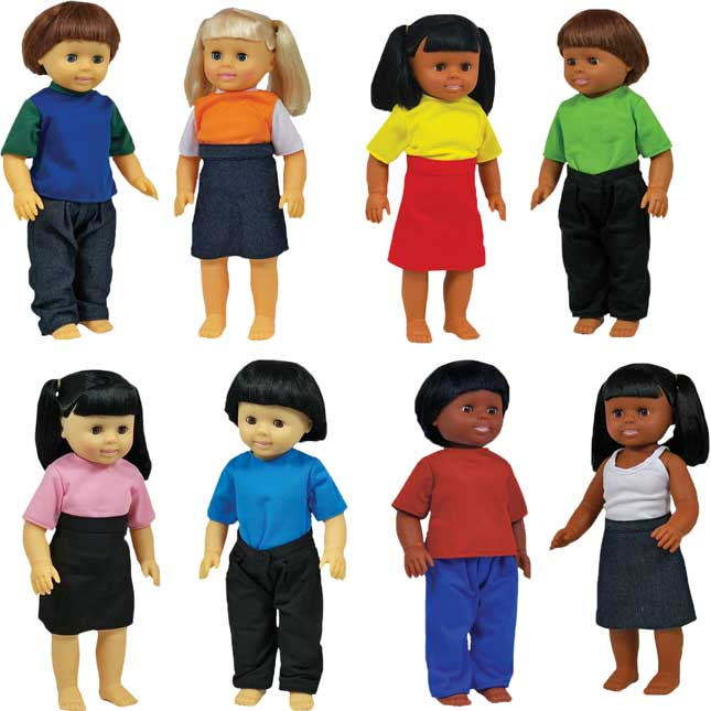 Multicultural Dolls - Set Of 8