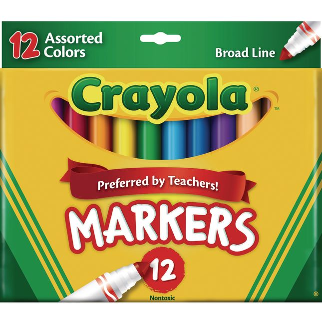 Crayola® 12 ct. Assorted Colors Broad Line Markers - 2 Boxes_0