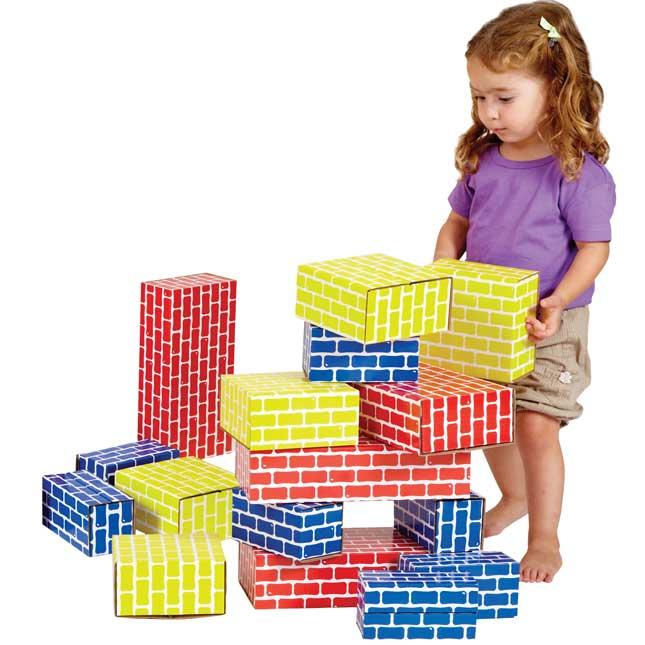 Corrugated Blocks - Set Of 84
