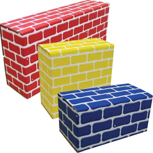 Corrugated Blocks - Set Of 52